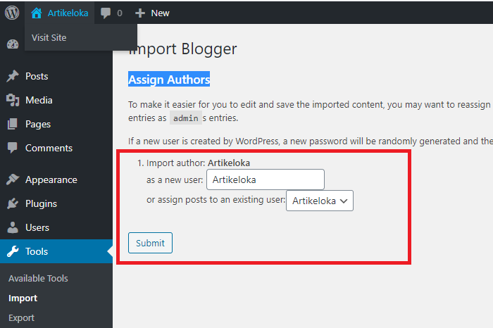 cara migrasi blogger ke wordpress 15