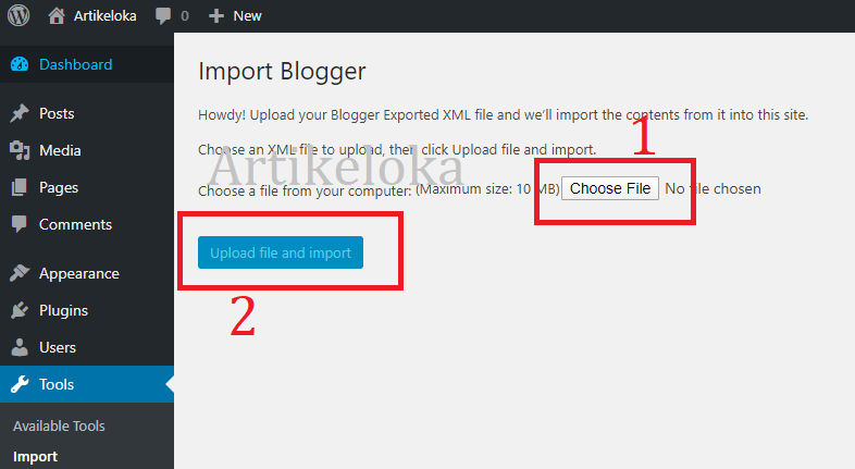 cara migrasi blogger ke wordpress 14