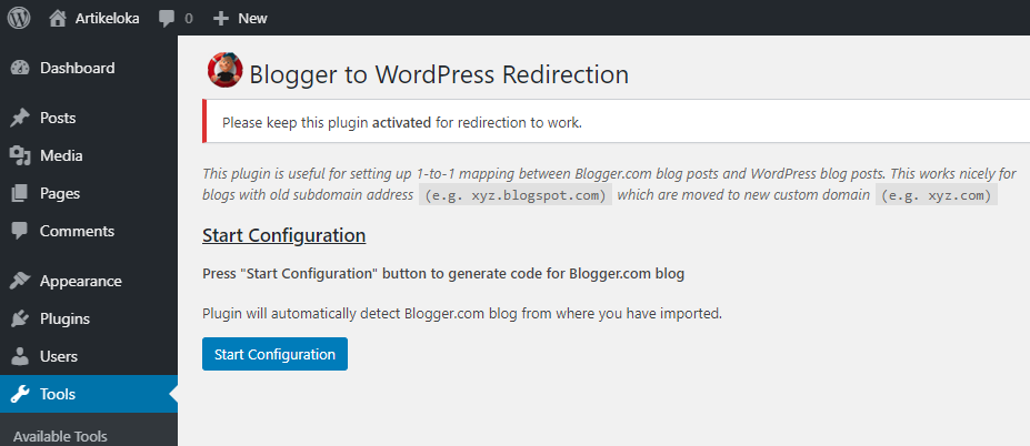 cara migrasi blogger ke wordpress 22