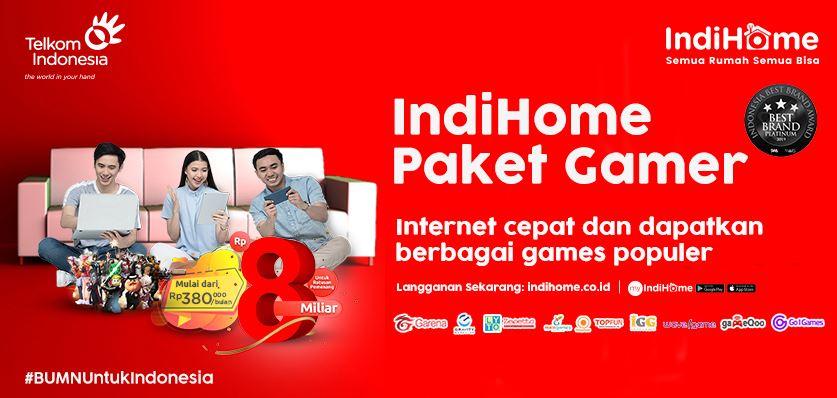 Cara Daftar IndiHome Internet Only (IndiHome Gamer)