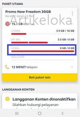 Kuota lokal Indosat tidak bisa dipakai